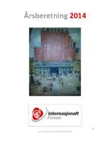 2014 beretning Internasjonalt Forum